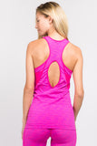 Active Cut Out Back Space Dyed Tank Top