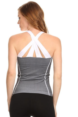 Active Criss Cross Back Workout Tank Top