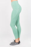 mint green workout running tights