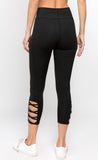 black size large women's gym leggings