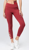 burgundy workout leggings for women
