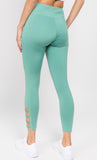dusty sage high waisted leggings for gym