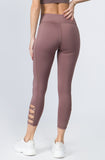 dusty pink workout 7/8 leggings squat proof
