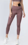 mauve high waisted workout crop leggings