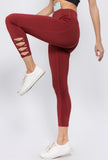 burgundy active leggings for women 2019
