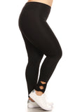 black high waisted plus size leggings
