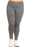 charcoal plus size workout leggings with cutouts
