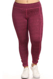 wine red plus size activewear brands