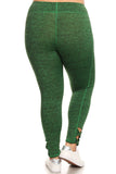 green high rise cute leggings for working out