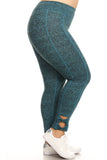 turquoise plus size active leggings
