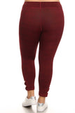 burgundy plus size yoga pants