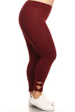 Plus Size Active Bow Cutout Leggings