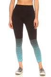 turquoise ombre seamless yoga tights