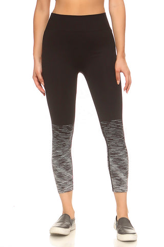 Plus Size Jersey Mesh Panel Active Leggings