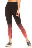orange ombre high rise crop legging