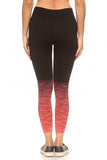 orange high waisted active legging