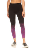 purple ombre seamless active tights