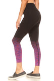 purple ombre active legging
