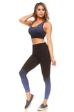 sports bra and workout leggings set