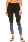 blue ombre seamless legging for sports