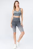 Ombre My Way Active Bra And Shorts Set
