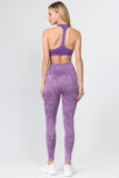 purple racerback sports bra seamless active leggings set