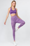 purple sports bra and leggings outfits