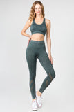 City Streets Vintage Wash Texture Sports Bra + Legging Set