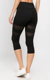 black mesh stretchy leggings stylish activewear