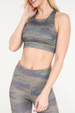 Fade into Camo Active Capri Workout Set