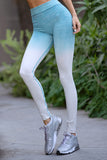 blue ombre compression running tights