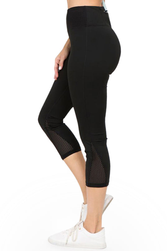 black cropped yoga tights