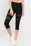 black high waisted crop yoga leggings for women