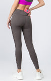 grey mesh workout leggings for women