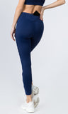 navy workout tights with pockets