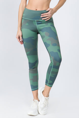 Ready Go Active Mesh Cropped Legging with Functional Pocket