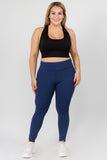Plus Size High Waist Tech Pocket Workout Leggings