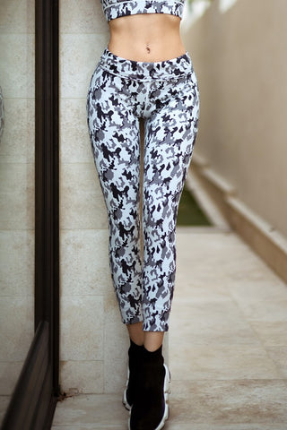 The Tribal Textured Fleece Lined Legging