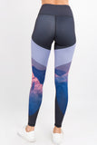 grey workout athletic tights for women pockets