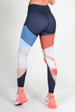 boho active tights for running cardio crossfit