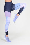 high waisted yoga tights with floral print