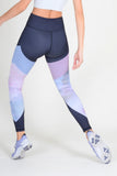 high waisted active floral leggings for women