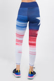 USA flag active leggings for women with pockets