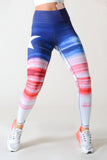 4th of july workout leggings high rise running tights