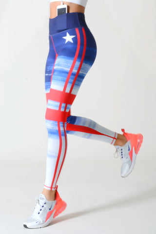 Team Red, White & Blue Active Leggings