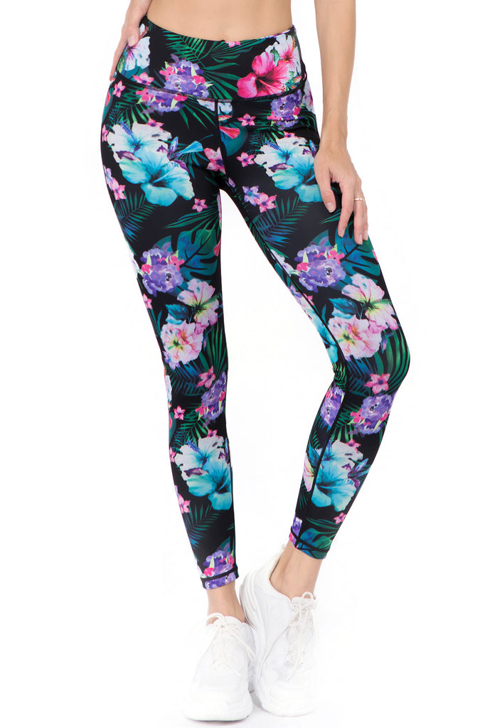 Island Getaway Active Printed Leggings