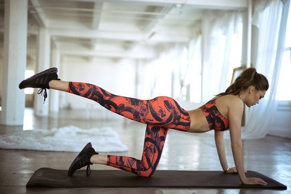 Striking Strokes of Color Active Leggings