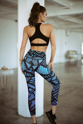 A Bold Move Geo Print Active Leggings