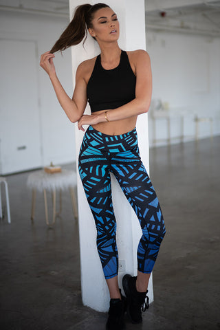 Abstract Honeycomb Pattern Active Leggings