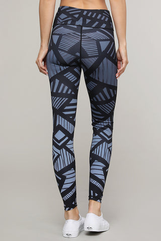 Trace your Shadow Abstract Print Active Leggings